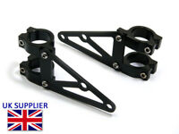 Motorbike Headlight Brackets with Short Arms for Custom Project Bike 42-43mm