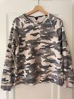 J. Crew gray & cream camouflage sweatshirt - medium