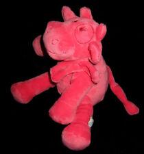 Doudou Peluche Vache Lola rose corail Noukie's Noukies Mix and Match 25 cm