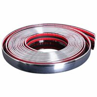 20mm 5m Chrome Car Styling Moulding Strip Trim Self Adhesive Crash Protecto G6A6