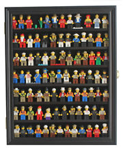 Lego Minifigures Display Case Wall Cabinet Shadow Box, Black, LG-CN56-BLA