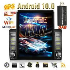 """9.5"""" 2 Din Android 10.0 AUTORADIO DAB+ GPS MP5 Wifi FM BT Vertical Touch Screen"""