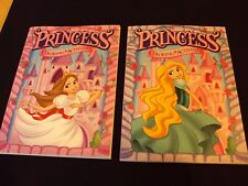 New Lot Of 2 Princess Coloring & Activity Books ~ Girl Games Magic Kids/Adults