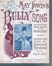 May Irwin's Bully Song 1896 Large Format Sheet Music