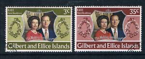 Gilbert & Ellice Islands 1972 Royal Silver Wedding o/FU SG 211-2