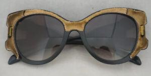 Prada Sunglasses Black Velvet Tapestry Yellow Pink Brown