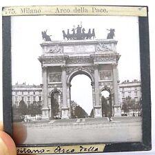 LANTERNA MAGICA FOTO ANTICA  MILANO ARCO DELLA PACE 1890
