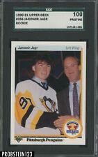 1990-91 Upper Deck #356 Jaromir Jagr Penguins RC Rookie SGC 100 PRISTINE