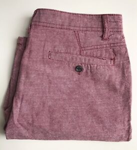 Modern Amusement Shorts, Red Chambray, Size 29, 10.5-inch Inseam, Exc Cond