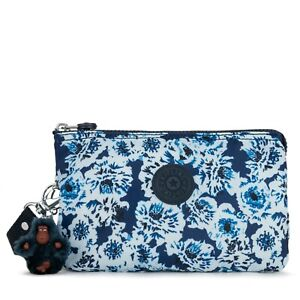 Kipling Creativity Extra Large Printed Pouch / Wristlet, Roaming Roses