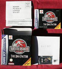 Nintendo Gameboy Advance  jeu JURASSIC PARK III THE DNA FACTOR, NEUF EN BOITE