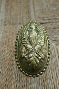 Antique decorative solid brass door knob handle with eagle bird crest project