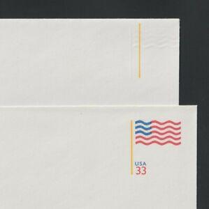Scott #U642i .33 Flag: Mint, Entire PSE: Blue + Red colors omitted ERROR.