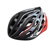 Casco de Ciclismo Deportivo Negro Rojo Bicicleta Carretera MTB Talla L 2961ngrj