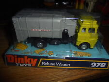 DINKY TOYS MODEL No.978 BEDFORD REFUSE bin lorry WAGON MINT SEALED BOX 1974