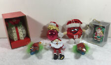 Vtg Holiday Lot Of 7 Wooden Christmas Ornaments