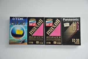 TDK E-HG45 MAXELL HGX BLACK 30 PANASONIC EC-30 LOT VHS-C CAMERA TAPES