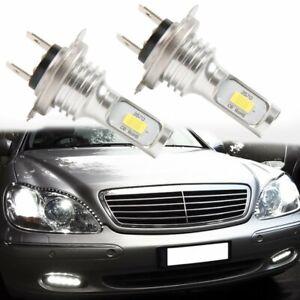 Error Free H7 CSP 3570 LED 6000K White Headlight Fog Light Kit 100W CAN Bus Bulb