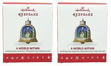 Hallmark 2016 Christmas Ornaments Mini A World Within - Lot of 2
