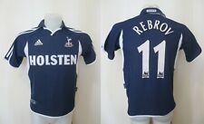 BOYS Tottenham Hotspur #11 Rebrov 2000/2001 Away Sz L Adidas shirt jersey soccer