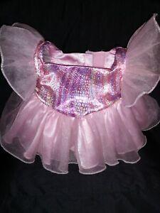 Build A Bear PINK RAINBOW TULLE DRESS RECITAL DRESS