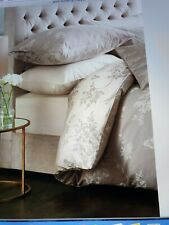 Next 100%Cotton Gold Butterfly Jacquard Bedset Single Duvet cover Pillowcase £50