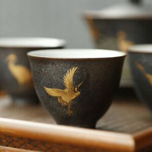 on sales Chinese tea cup crane relief creative kungfu tea cup master cup of tea