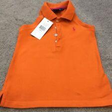 Ralph Lauren New Sleeveless Orange Top Size Age 4 RRP £65
