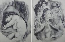 Mariette LYDIS : jeune fille / femme au chapeau - 2 GRAVURES - #1947
