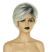 Synthetic Cosplay Daily Party Short Straight Wigs for Women w/ Free Wig Cap