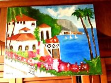 Original- One of a Kind- Oil on Canvas-Mediterranean- Signed-COA-Listed Artist