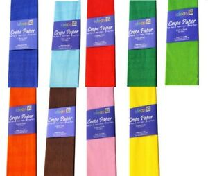 Craft Crepe Paper 50cm x 3M 17gsm 40% Stretch Food Safe Colourfast & Acid Free