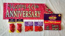 Jumbo Ruby 40th Wedding Anniversary Party Decoration Pack