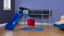 Kids Bunk Bed Twin Loft Slide Bedroom Furniture Ladder Play Area Toddler Boy