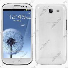 Housse Etui Coque Rigide Slim Motif Gouttelettes Blanc Samsung Galaxy S3 i9300