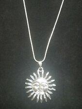 Sun Necklace Pendant on Sterling Silver Chain Celestial Sun