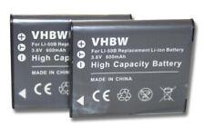 2x BATTERY 600mAh for Ricoh DB-110