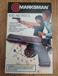 NOS Marksman 1010 Pellet/BB/Dart Spring Pistol.1980's mfg.mint w/box/manual