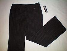 NWT NEW womens size 12 X 32 black pinstriped STUDIO 253 modern fit dress pants