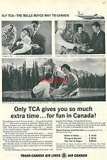 Publicité 1965 FLY TCA TRANS CANADA AIRLINES AVION aéronautique advertising