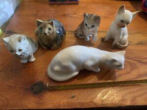 Job Lot Small Pottery Cats