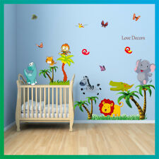 Animal Wall Sticker Jungle Monkey Dinosaur Zoo Nursery Baby Kids Room Decal Art