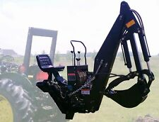 7' FT 3 Point Backhoe With Thumb Excavator Attachments Jubota Deere