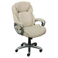 Serta Faux Leather Swivel Office Executive Chair In Ivory New R426 427