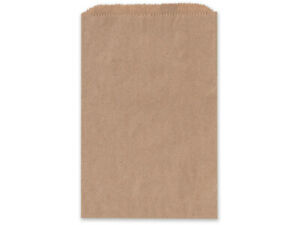 BROWN KRAFT Flat Paper Merchandise Bags Choose Size & Package Amount