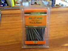 Bullet Head Nails 75 x 3.75mm QTY 500g Pack Bright Smooth Indoor use Nail