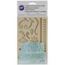 "Wilton Fondant & Gum Paste Silicone Mold 5""X7.75"" Lace"