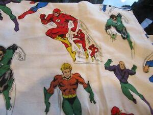Pottery Barn Kids Justice League Glow in dark flannel sheet set twin photo