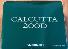 SHIMANO CALCUTTA D CT-200D 5.7:1 Gear Ratio Right Hand Caitcast Fishing Reel NEW