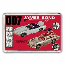 RETRO 60s CORGI TOY CATALOGUE JAMES BOND ASTON MARTIN-TOYOTA JUMBO FRIDGE MAGNET